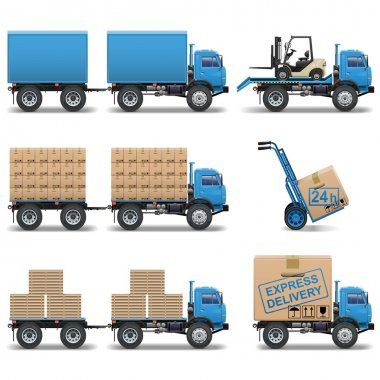 Vector shipment icons set 5