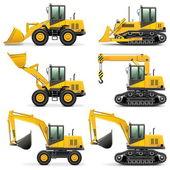 Fotografie Vector Construction Machines Set 3