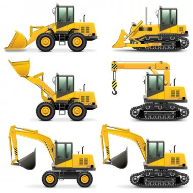 Vector Construction Machines Set 3