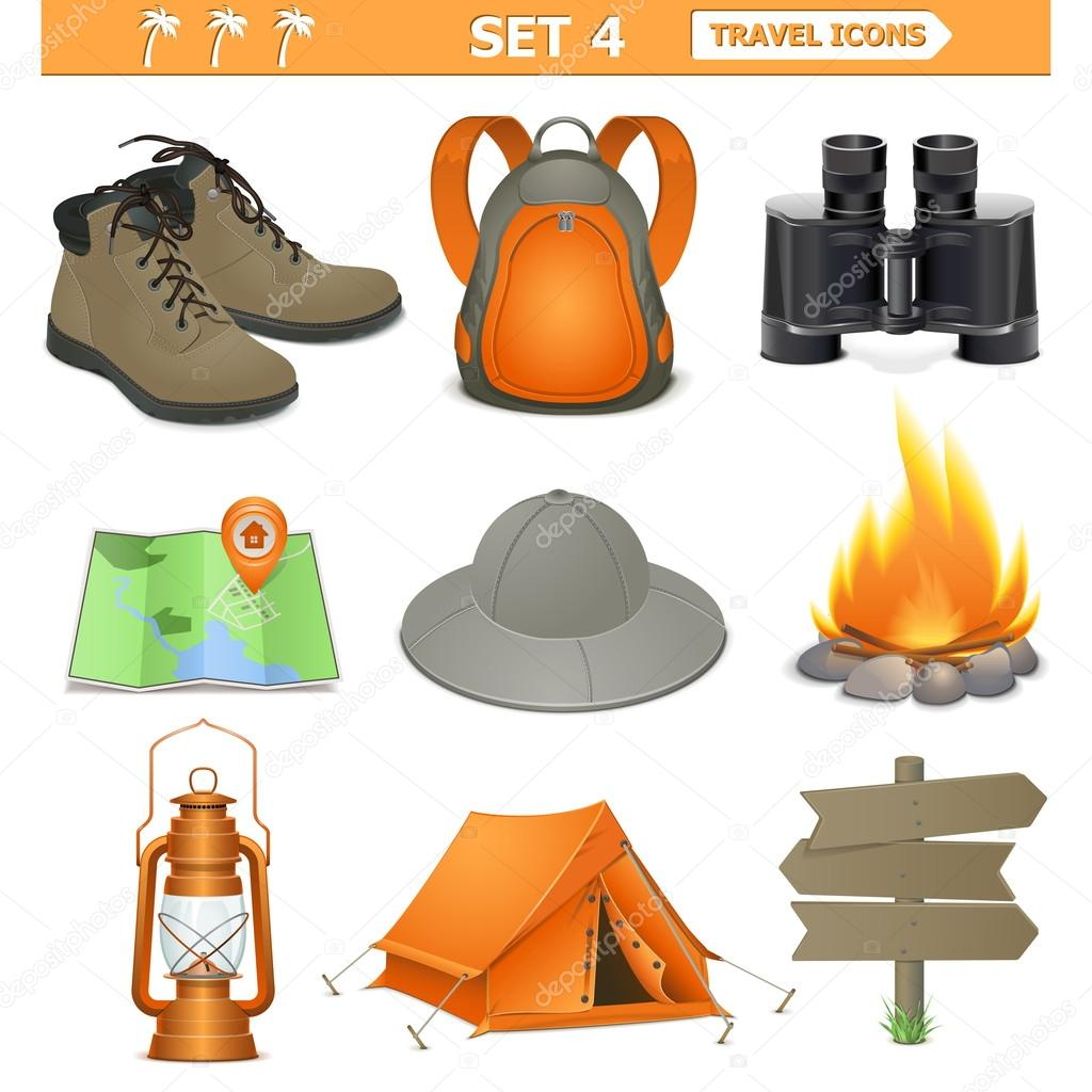 Vector travel icons set 4