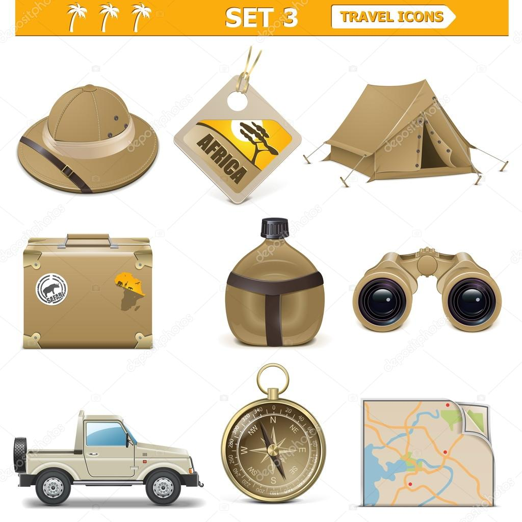 Vector travel icons set 3