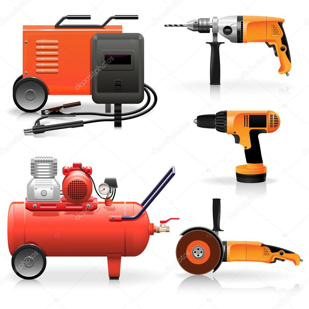 Vector Electric Tools Icons