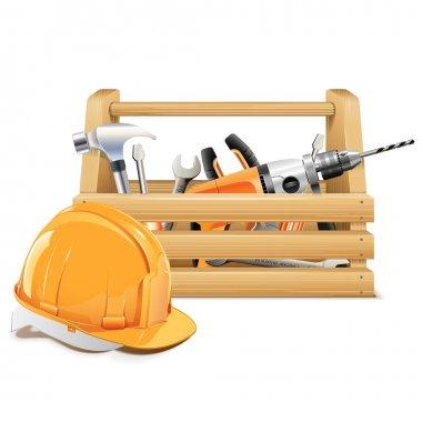 Vector Wooden Toolbox