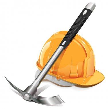 Vector Pickaxe with Helmet