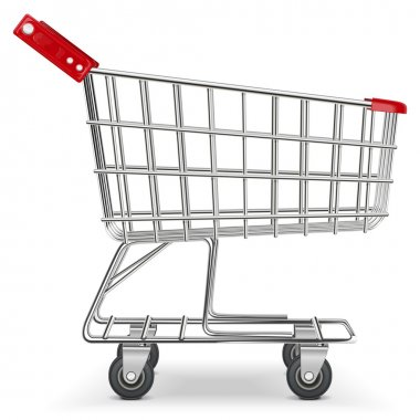 Vector Supermarket Cart stock vector