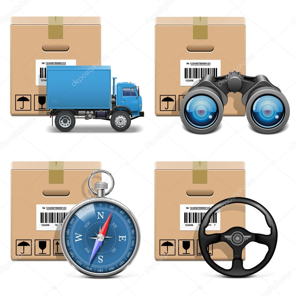 Vector Shipment Icons Set 11