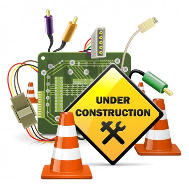 Vector Under Construction Concept with Sign