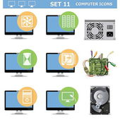 Vektorové ikony počítač nastavení 11