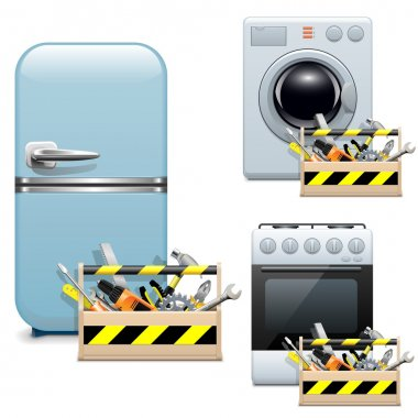 Vector Household Appliance Repair Icons