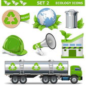 Photo Vector Ecology Icons Set 2