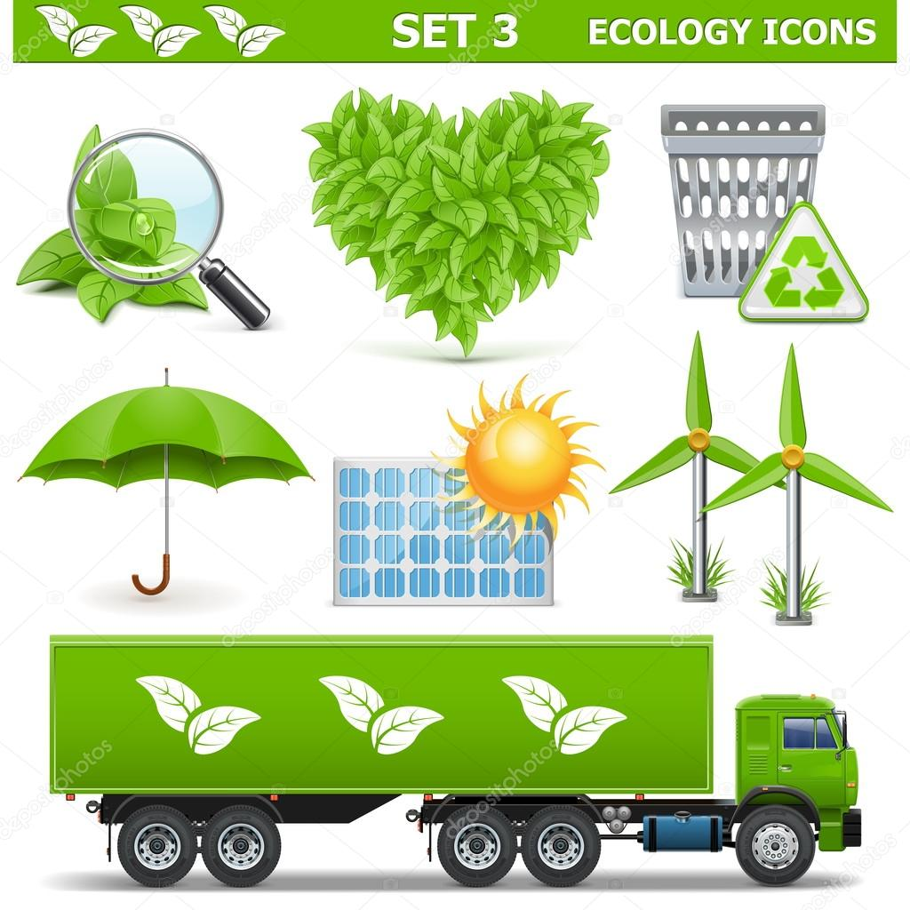 Vector Ecology Icons Set 3