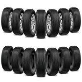 Vektor-Keil von Reifen