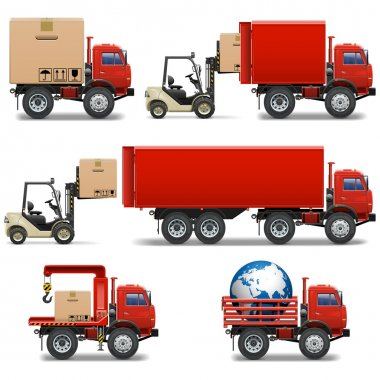 Vector Shipment Icons Set 34