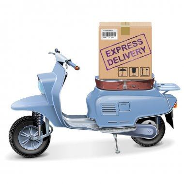 Vector Delivery Scooter
