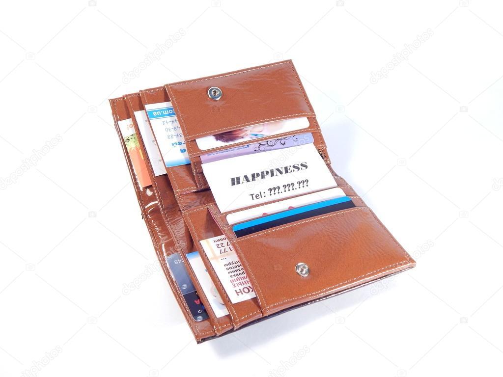 Portefeuille Et Cartes De Visite Abstraction Ou Trouver Le Bonheur Reve Personnes Images Stock Libres Droits