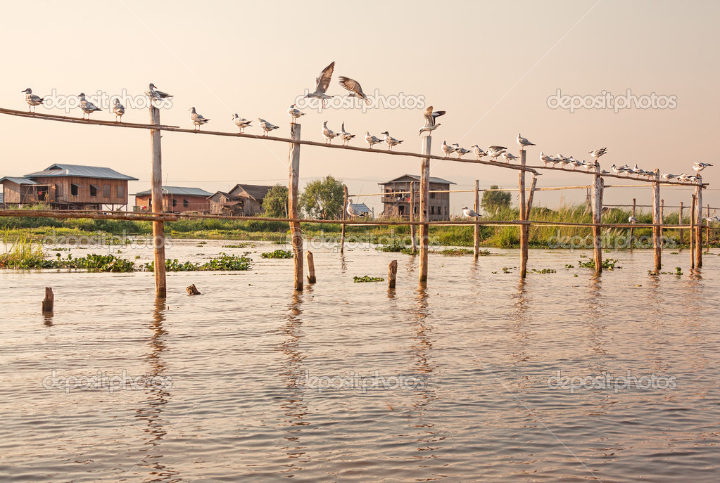 The City Of Nyaung Shwe At The Inle Lake In Myanmar Editorial ...