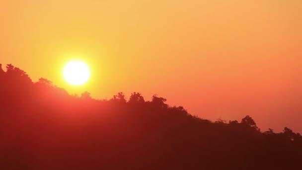východ slunce timelapse pozadí oranžová