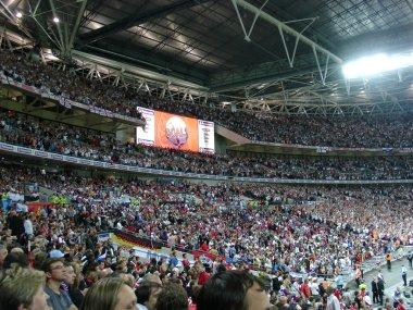 Tribunes of Wembley stadium.