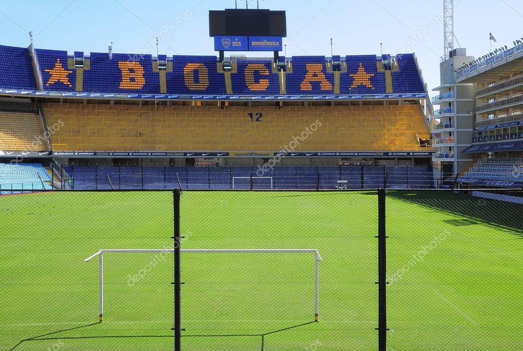 Fans tribune at Bombonera stadium.