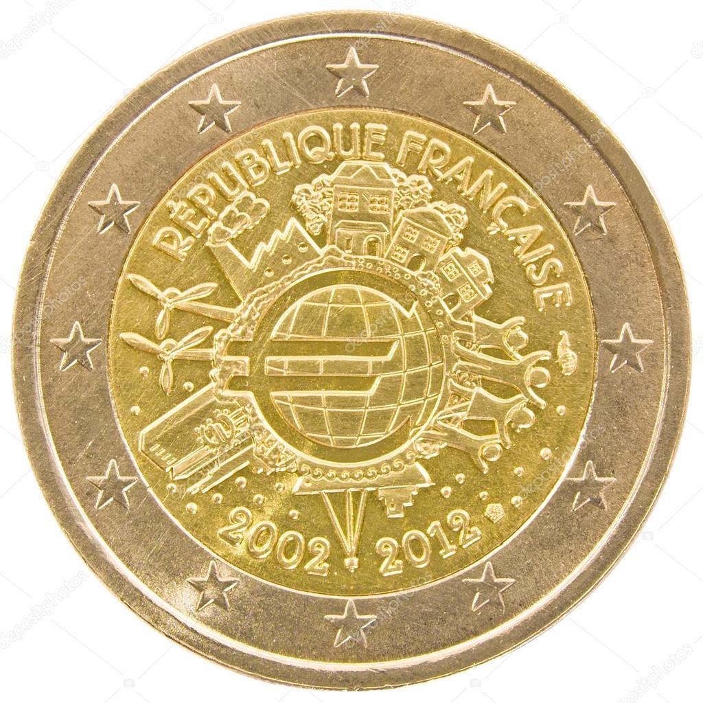 Fran ais pi ce de 2 euros photographie serjio74b 42532939 - Stock piastrelle 2 euro ...