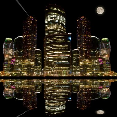 Night city view.