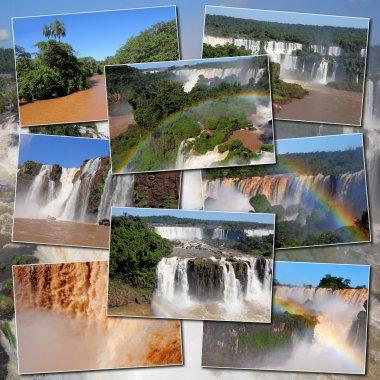 Iguazu falls and river.
