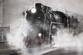 Fotografie retro parní vlak