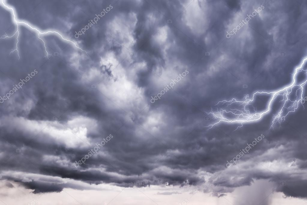 Dark storm clouds before rain.