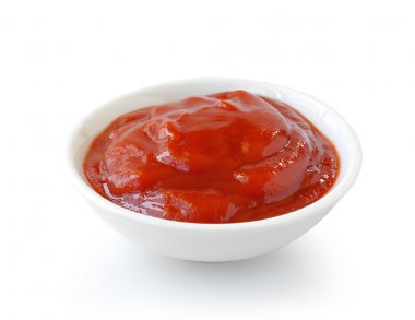 Tomato sauce isolated on white background stock vector