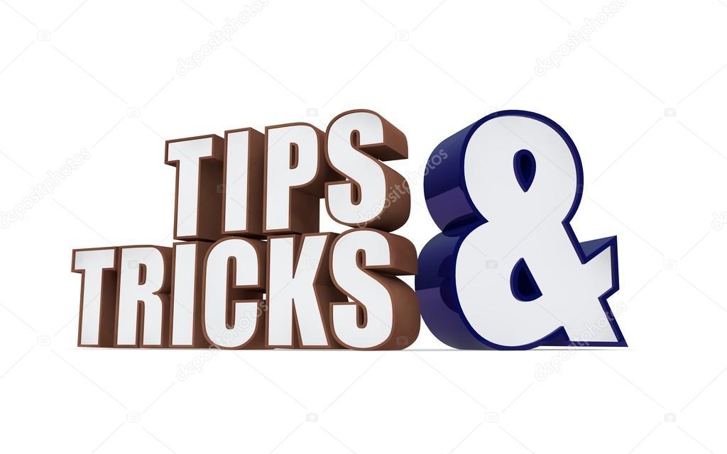 Tipps Und Tricks-Symbol Auf Weißem Grund. 3D-Illustration
