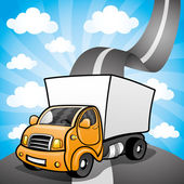 Vektorové ilustrace. nákladní automobil