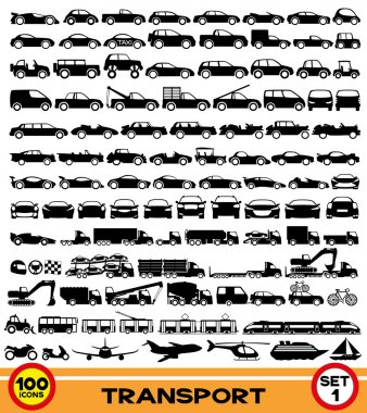 Vector set. Transportation icons.