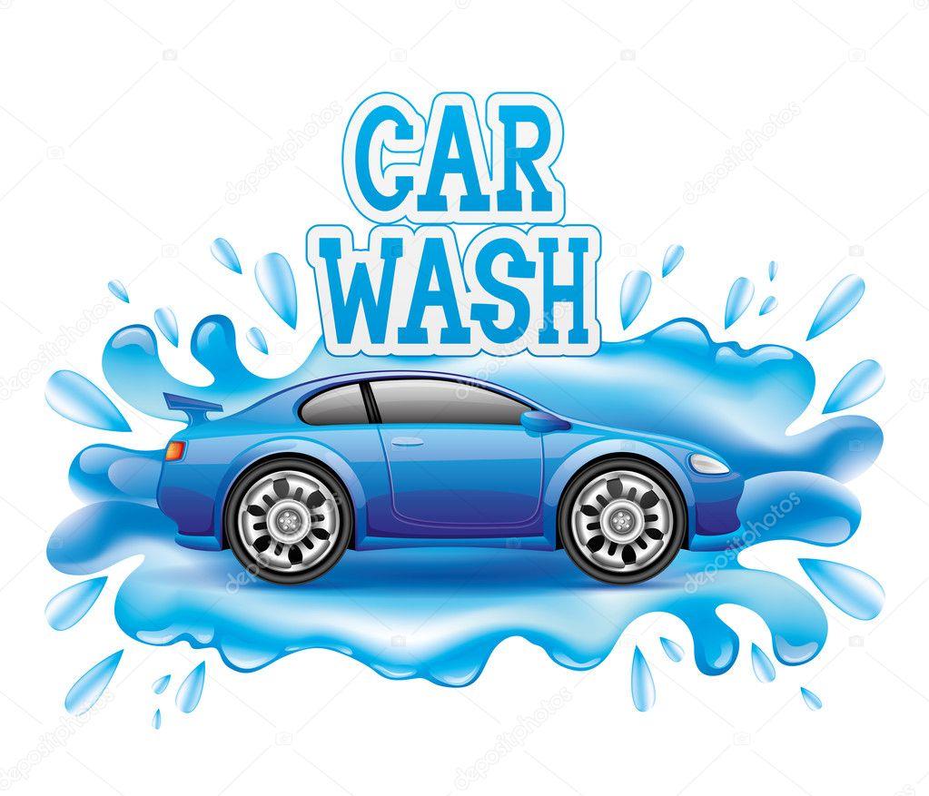Vector sign. Car wash.