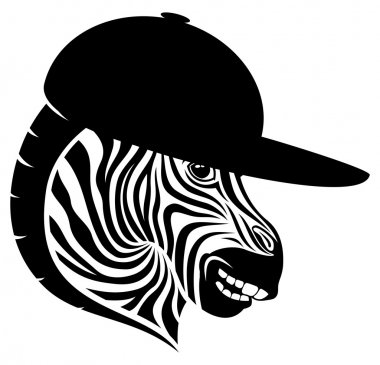 Vector sign. Zebra.