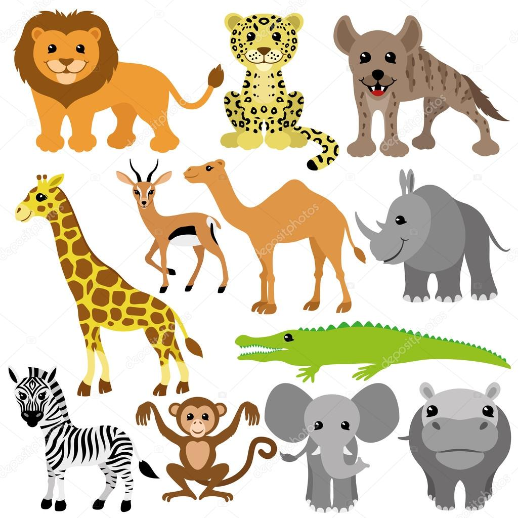 Vector set. African animals.
