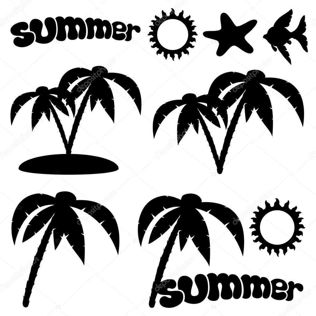 Vector set. Summer concept.
