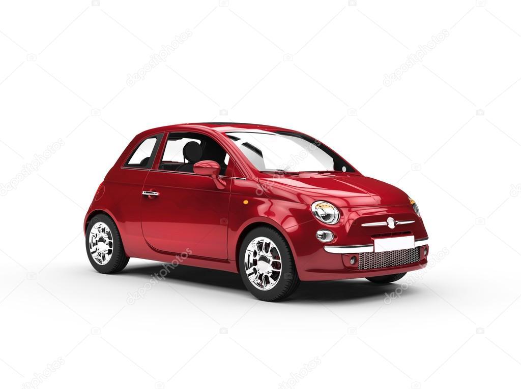 petite voiture conomique couleur cerise photographie svitac 49904389. Black Bedroom Furniture Sets. Home Design Ideas