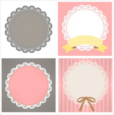 Cute Lace Pattern - Vector File stock vector