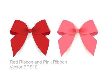 Pink Ribbon And Red Ribbon