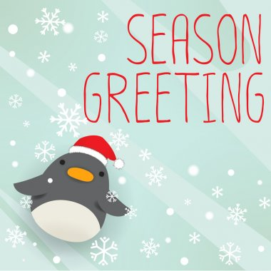 Penguin - mery xmas greeting card