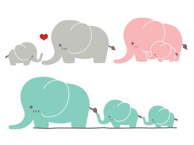 Cute Elephant - Vector File stock vector