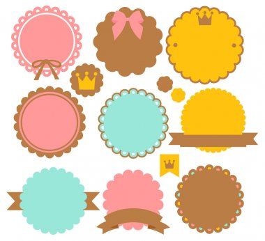 Cute Vintage Border - Vector File stock vector