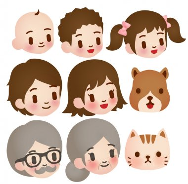 Collection of Cute Family