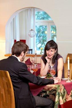 Woman Flirting In Restaurant