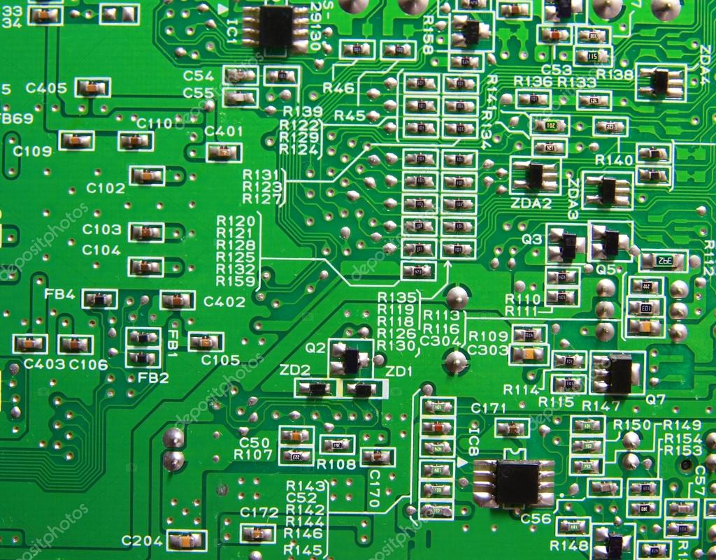 Texture, Green circuit board — Stock Photo © aodaodaodaod #32428661