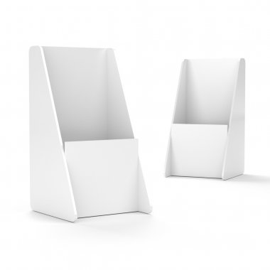 Blank empty flier holder or display stand for dl format