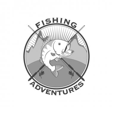 Fishing adventures emblem