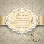 Pozvánka na vinobraníビンテージ結婚式の招待