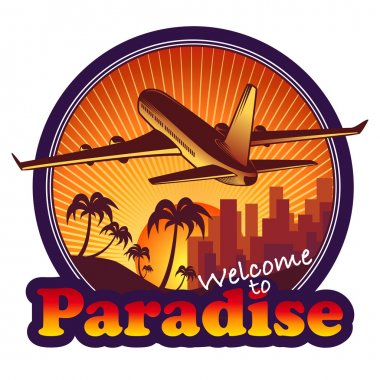 Paradise travel label