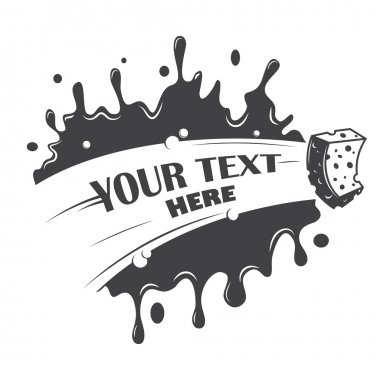 Blot cleaning sponge with a place for your text clip art vector